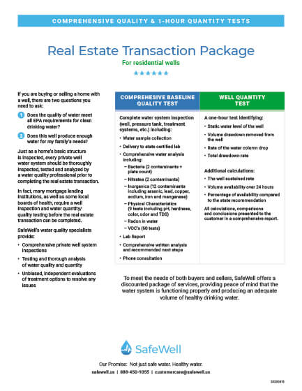 SafeWell Real Estate Transaction Package